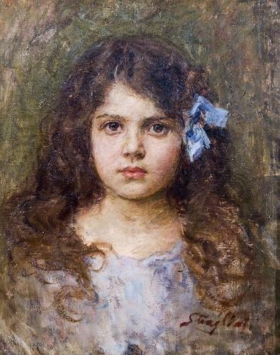 33C: Carlo Stragliati (1868 - 1925) Ritratto di Bambina