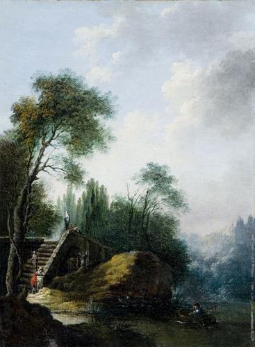 7A: Cerchia di Hubert Robert (Parigi 1733 - 1808)  Pae