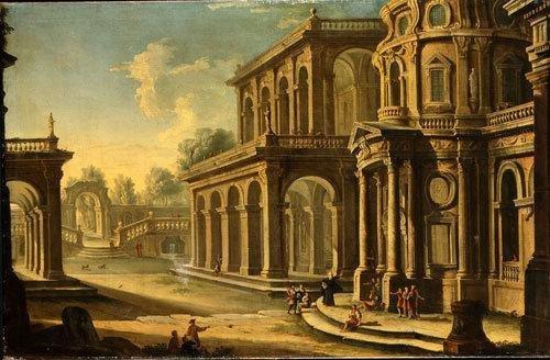 10A: Scuola romana, metà del secolo XVIII Palazzo elega