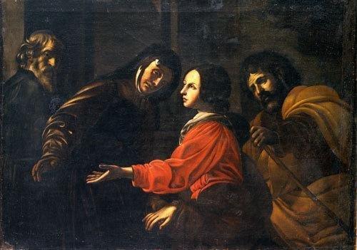 24A: Da Battistello Caracciolo, secolo XVII Visitazione
