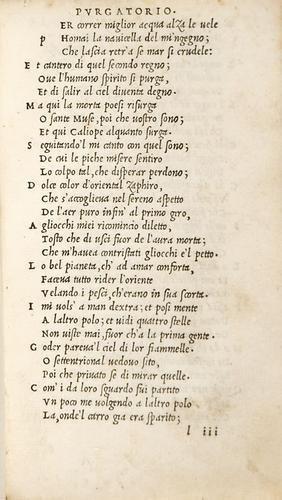 4B: Aldina - Alighieri, Dante. Le terze rime di Dante.
