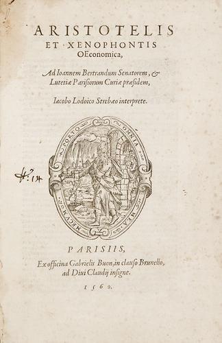 20B: Aristotele e Xenofonte. Aristotelis et Xenophontis