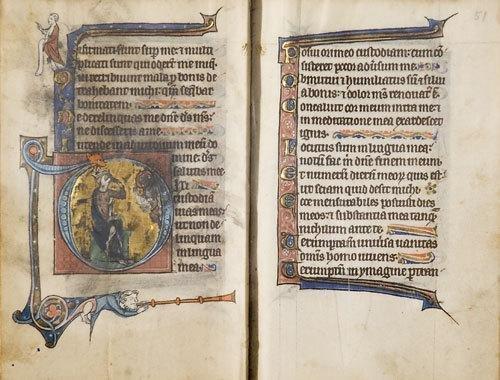 633B: Manoscritto Miniato.  Salterio.