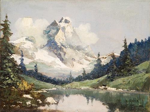 5C: Leonardo Roda (1868-1933) Veduta del Monte Cervino