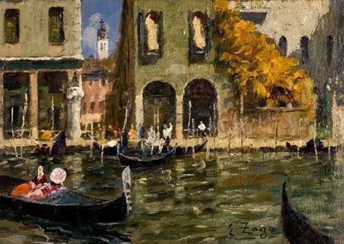 9C: Erma Zago (1880-1942) Canal Grande - traghetto di