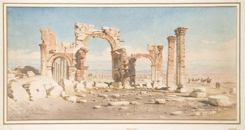 13C: Carl Haag (1820-1915) Carovana nei pressi dell'arc