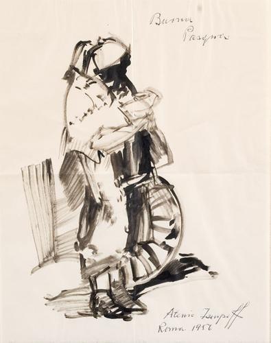 23C: Giuseppe Raggio (1823-1916) Studio di 'Buttero e c