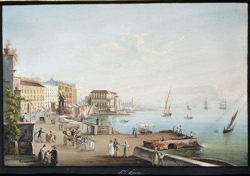 24C: Scuola napoletana del XIX secolo Veduta del Golfo