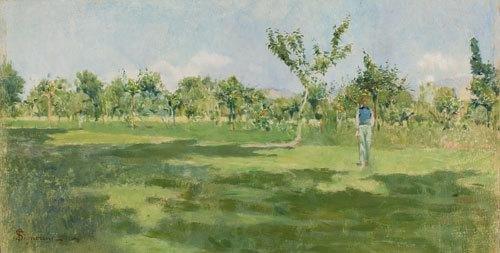111C: Telemaco Signorini (1835-1901) Primavera toscana
