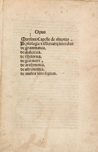 7D: Capella, Martianus. Opus Martiani Capella de Nupti