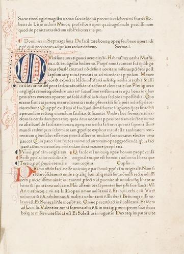 8D: Caracciolo, Roberto. Sermones quadragesimales de p