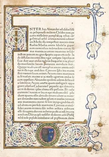 10D: Curtius Rufus, Quintus. Historiae Alexandri Magni.