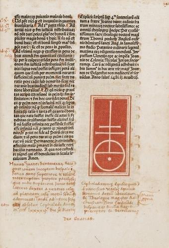 11D: Duns Scotus, Johannes. Super quartum sententiarum