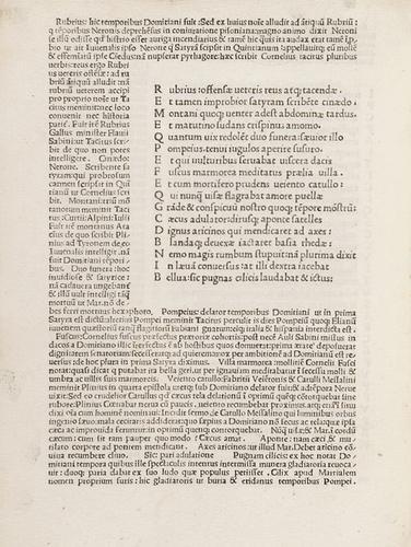 16D: Juvenalis, Decimus Iunius. Satyrae.