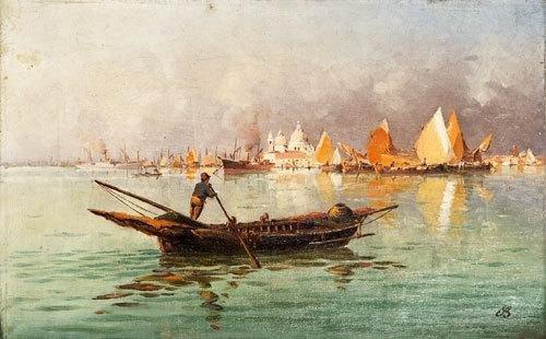 1: Benedetto Salviati Venezia, gondole in laguna
