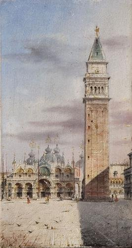 3: Marco Grubas (1839 - 1910) Venezia, la Chiesa e il