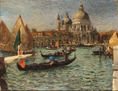 9: Giorgio Szoldaticz (1873 - 1955) Venezia, il Canal