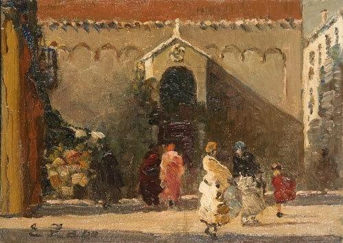 10: Erma Zago (1880-1942) Scena di vita a Venezia  .