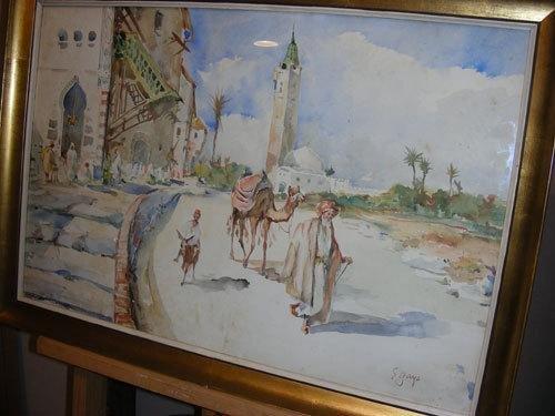19: Eugenio Gays (1861-1938) Scena di vita nel paese a