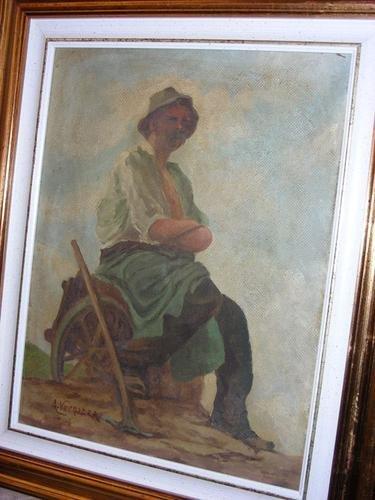 22: Angelo Vernazza (1869-1937) Contadino in riposo