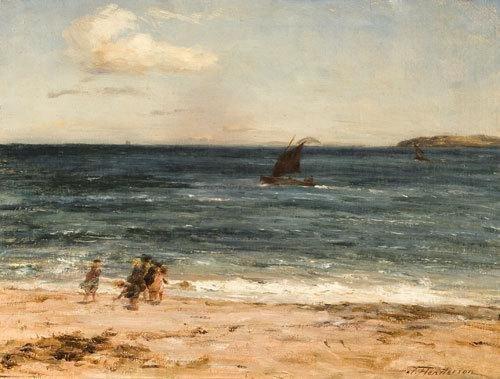 24: Joseph Henderson (1832-1908) Bambini sulla spiaggi