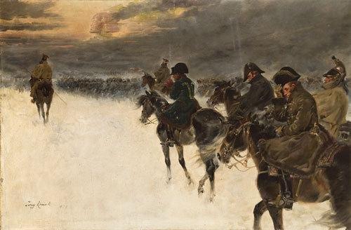 107: Jerzy Kossak (1886-1955) Il ritorno di Napoleone d