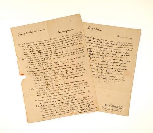 5: Cancellieri, Francesco. Lettere autografe firmate.
