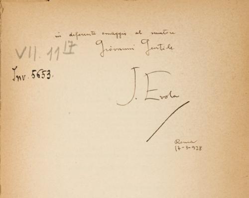 20: Evola, Julius - [Gentile, Giovanni]. Imperialismo