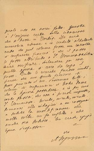 23: Fogazzaro, Antonio. Lettera autografa firmata