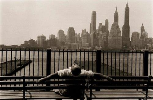 213: Louis Stettner (b. 1922) Manhattan from the Brookl