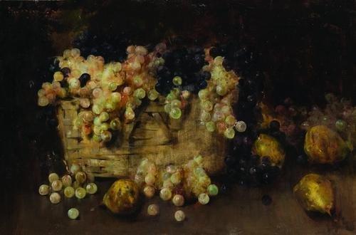 5: Luigi Serralunga (1880-1940) natura morta con uva