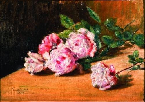 6: Cesare Calchi Novati (1858-1939)  Due dipinti raff