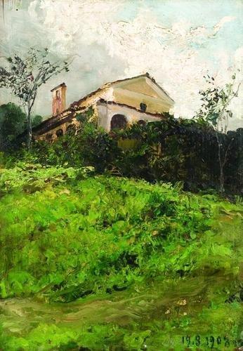 9: Lorenzo Delleani (1840-1908)  Scorcio di chiesa in