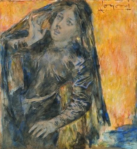 11: Luigi Conconi (1852-1917)  Ritratto di ragazza vel
