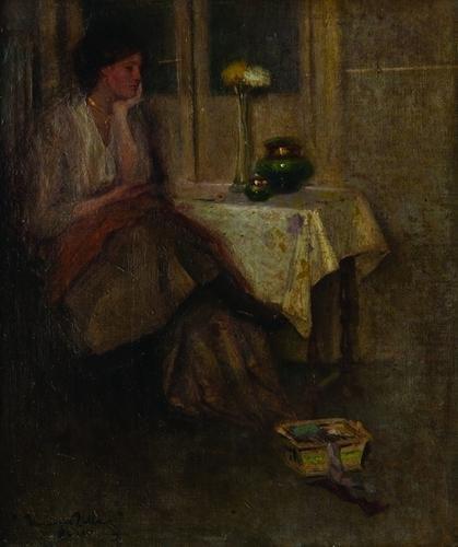 13: Venanzio Zolla (1880-1961)  Giovane donna in inter