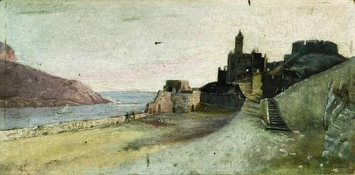 16: Agostino Fossati (1830-1904)   Veduta di Porto Ven