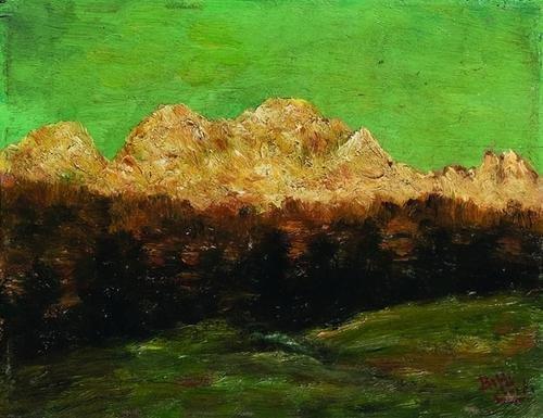 18: Beppe Ciardi (1875-1932)  Paesaggio di alta montag