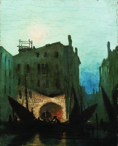 19: Gennaro Favai (1879-1958)  Notturno a Venezia