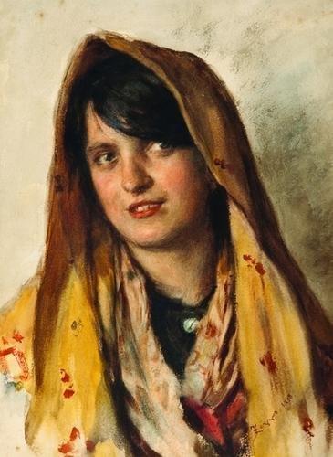 20: Alessandro Zezzos (1848-1914) Giovane popolana con