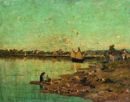 22: Guglielmo Ciardi (1842 -1917)             Scorcio