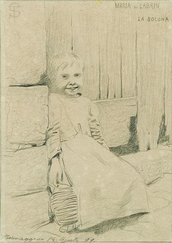 24: Telemaco Signorini (1835-1901)  Fanciulla sull'usc