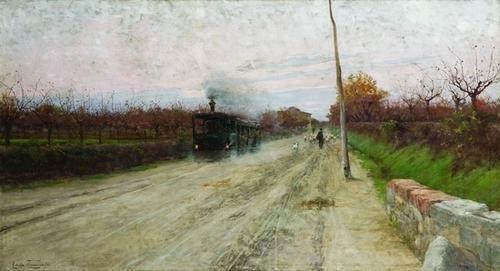 108: Adolfo Tommasi (1851-1933)  Sulla via di Fornaceta