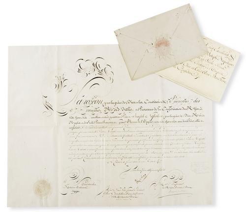 3: Bonaparte, Napoleone. Lettera autografata.
