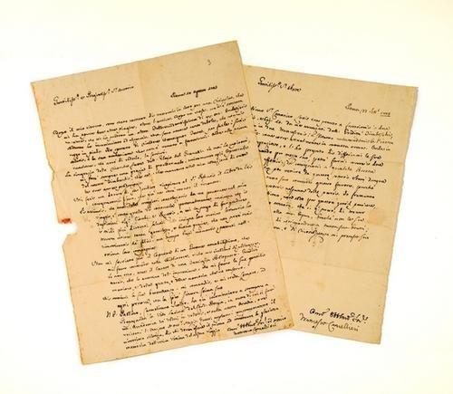 4: Cancellieri, Francesco. Lettere autografe firmate.