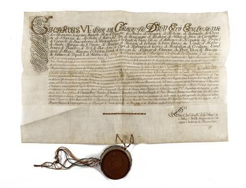 8: Carlo VI. Diploma.