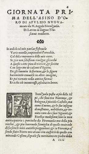 322: Classici greci - Apuleio. Dell'asino d'oro. Tradot