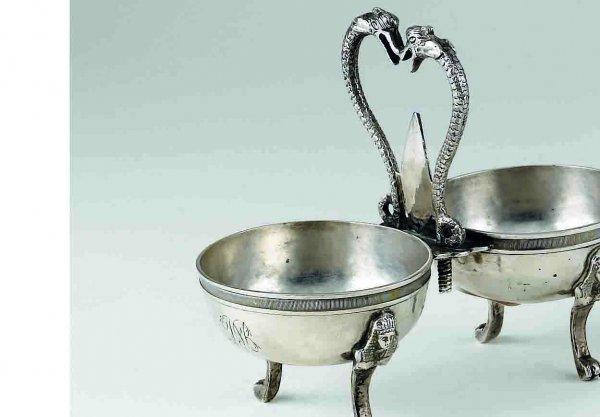 3: Saliera in argento, Francia XIX Secologr. 173,40