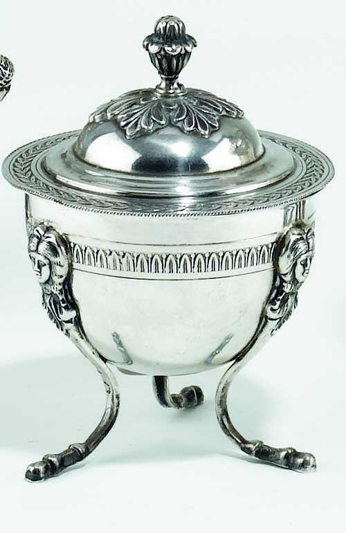 24: Zuccheriera in argento, Italia XIX Secolo  stileim