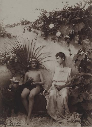 9: Wilhelm Von Gloeden (1856-1931) Untitled (Two youn