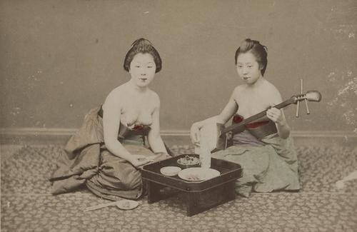 18: Artist unknown Untitled (Two girls with guitar), c
